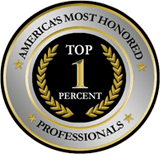 [Seal] America's Most Honored Top 1 Percent Professionals - The American Registry - America's Most Honored Lawyers - Rodney Bridgers